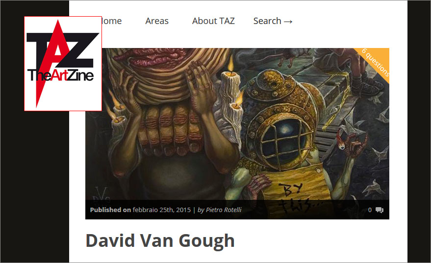 The Art Zine Interview with David Van Gough