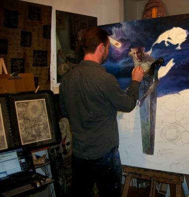 Van Gough in the studio