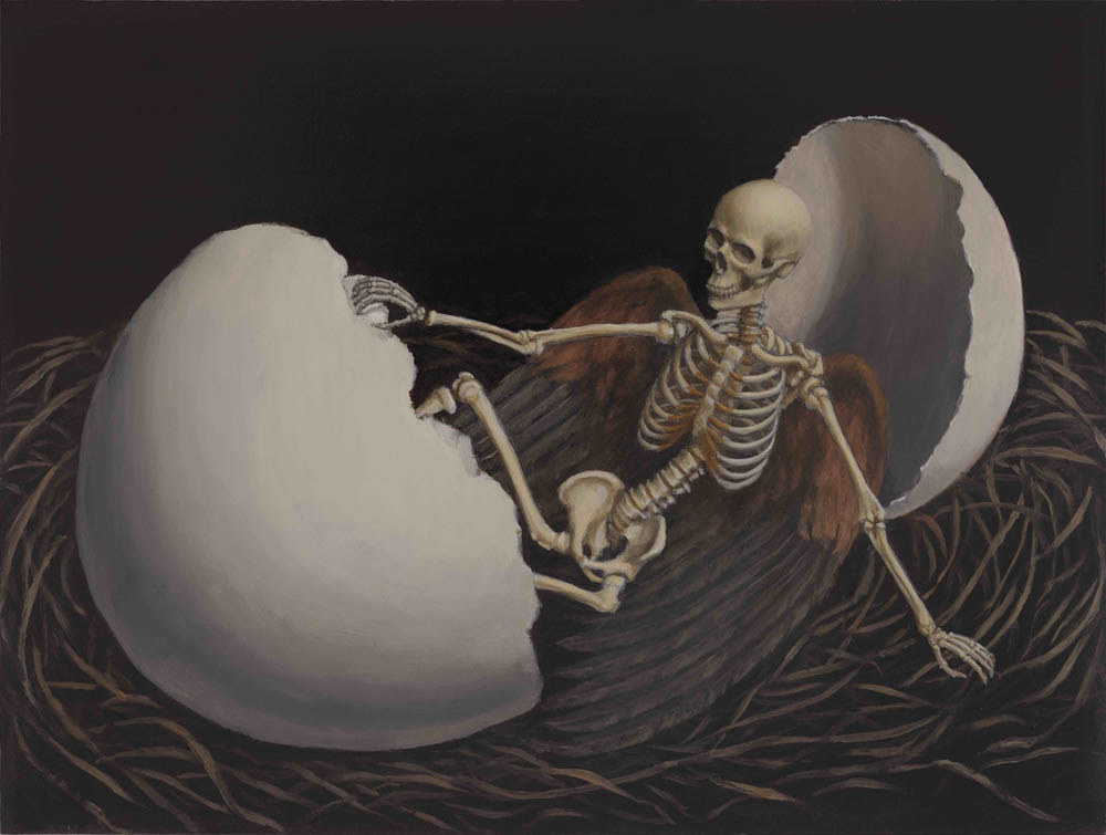 "Sandy Yagi ""Hatching Death #1"" Oil on panel 